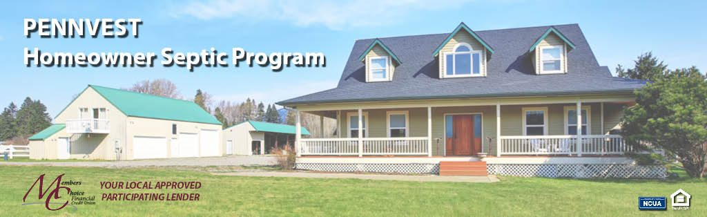 """""""pennvest. homeowner septic program."""" with picture of house"""