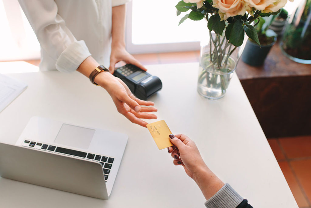 Handing over Card