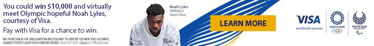 Olympic Games Tokyo 2020 Visa Sweepstakes