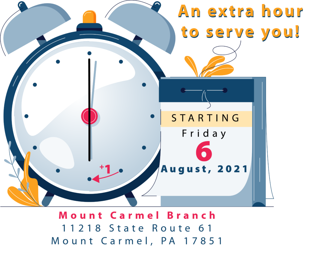 Clock pointing to 6 and a calendar that says Starting Friday, August 6, 2021