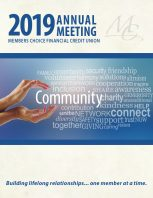 2019 Annual Meeting Booklet Cover