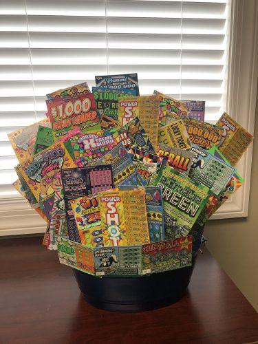 Lottery Scratch Ticket Raffle Basket